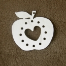 Wooden apple with heart