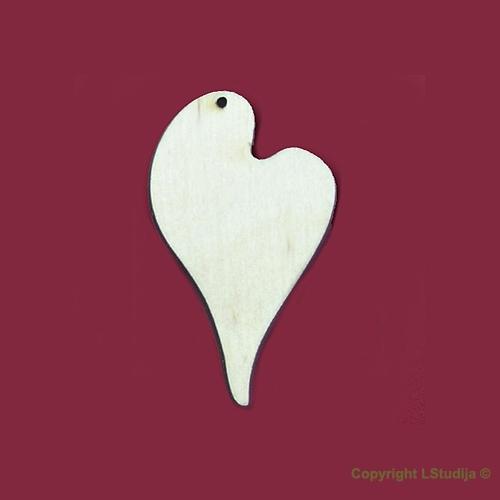 Mediniai auskarai širdelė