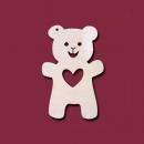 Формы серёжек медвежонок с сердечком