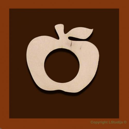Украшение свечи яблоко