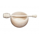 Bowl with spoon for honey Ø100 mm