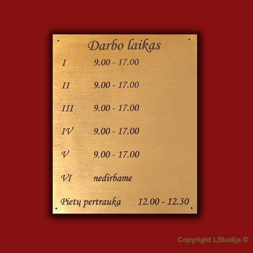 Darbo laiko lentelė
