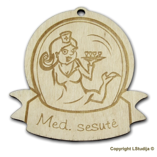 """Medinis medalis """"Mėd. sesutė """""""