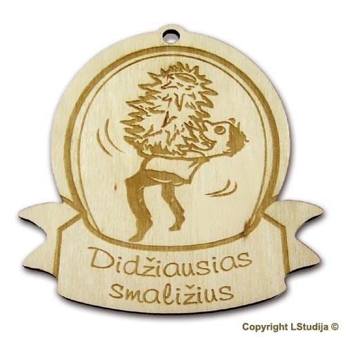 """Medinis medalis """"Didžiausias smaližius"""""""