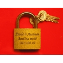 Engraved padlock (45mm)