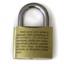 Engraved padlock (63mm)