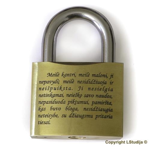 Engraved padlock (63mm)