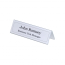 Rigid PVC table place name holder, 105/210 x 297, transparent