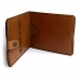Natural leather hunter document wallet Hubert