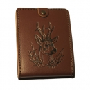 Natural leather hunter document wallet roe