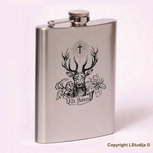 Classic 8oz flask St. Hubert