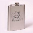 Classic 8oz flask deer