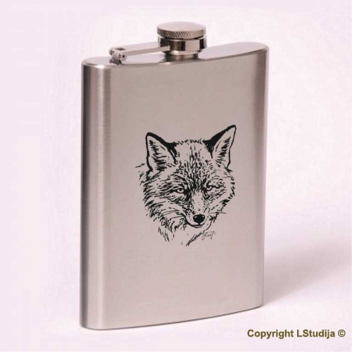 Classic 8oz flask fox