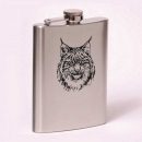 Classic 8oz flask lynx