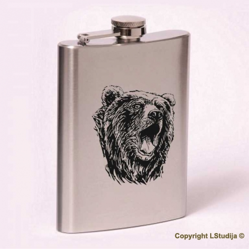 Classic 8oz flask bear