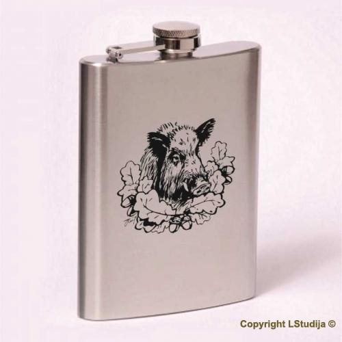 Classic 8oz flask  boar