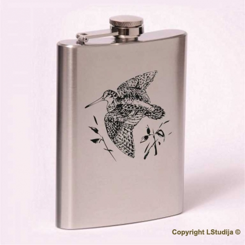 Classic 8oz flask  woodcock