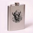 Classic 8oz flask  bison