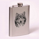 Classic 8oz flask  wolf
