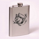 Classic 8oz flask  squirrel