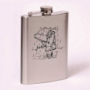 Classic 8oz flask  fisherman