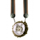 "Medal made ​​of moos horn natural ""roses."""