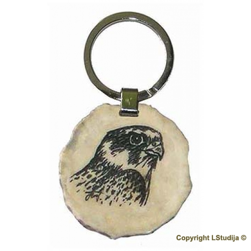 Key ring falcon