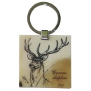Key ring red deer