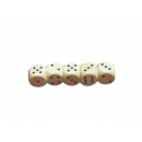 Set of five dice