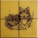Glass tiles Wolfs
